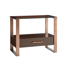 Zavala Brown Portico Nightstand