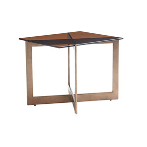 Zavala Brown Aperture End Table