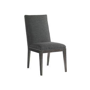 Carrera Dark Gray Vantage Upholstered Side Chair