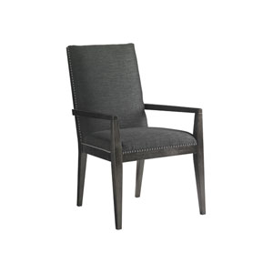 Carrera Dark Gray Vantage Upholstered Dining Arm Chair