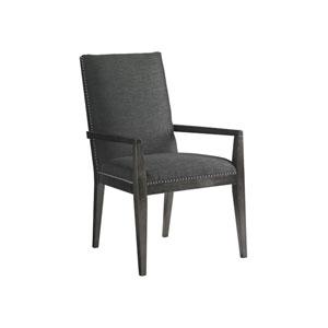 Carrera Dark Gray Vantage Upholstered Dining Arm Chair