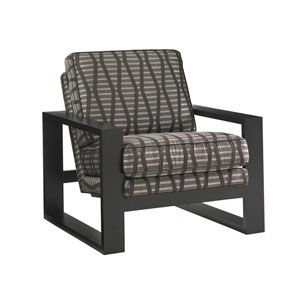 Carrera Black and Brown Axis Chair