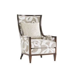 Tower Place White and Beige Greenwood Chair