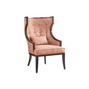 Kensington Place Dark Brown and Orange Dover Chair