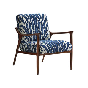 Take Five Blue and White Warren Chair