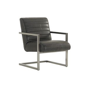 Macarthur Park Black Chatsworth Leather Host Chair