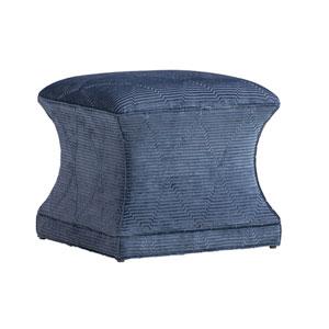 Carlyle Blue Sutton Ottoman