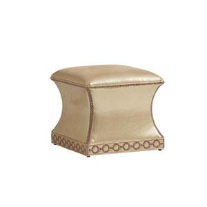 Carlyle Tan Merino Leather Ottoman