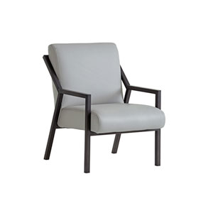 Santana Gray Weldon Leather Chair