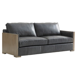 Shadow Play Black Delshire Leather Sofa