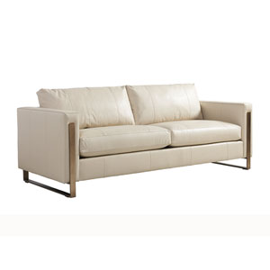 Shadow Play White Nob Hill Leather Sofa