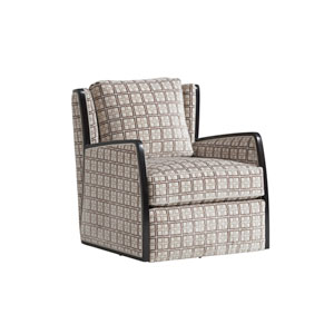 Carlyle Brown and Cream Delancey Swivel Chair