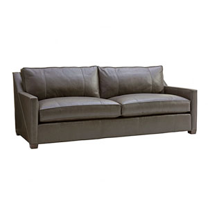Zavala Gray Wright Leather Sofa
