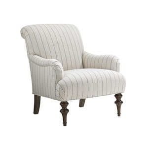 Upholstery White and Gray Jay Chair