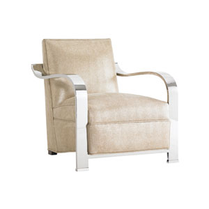 Tower Place Beige Kenilworth Leather Chair