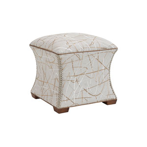 Kitano Ivory and Brown Eclipse Ottoman
