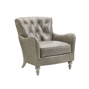 Oyster Bay Beige Wescott Leather Chair