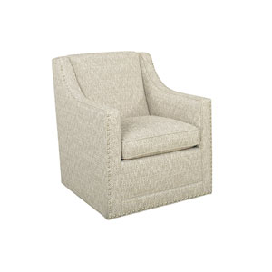 Upholstery Beige Barrier Swivel Chair