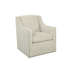 Upholstery Ivory Barrier Swivel Chair