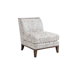 Ariana White and Beige Branford Chair