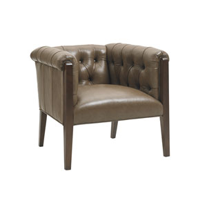 Oyster Bay Brown Brookville Leather Chair