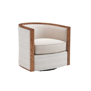Kitano White Palermo Swivel Chair