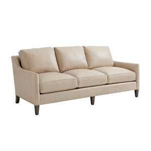 Ariana Beige Turin Leather Sofa