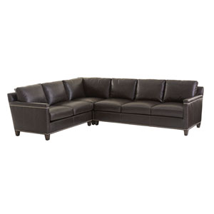 Carrera Brown Strada Leather Sectional Sofa