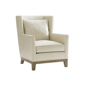 Shadow Play Cream Atlas Leather Chair
