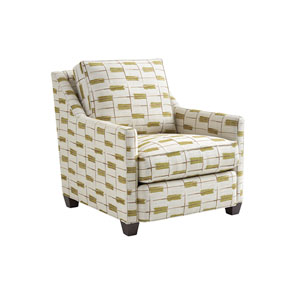 Zavala White and Green Venturi Chair