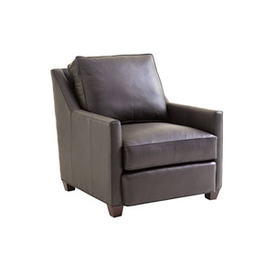 Zavala Dark Brown Venturi Leather Chair