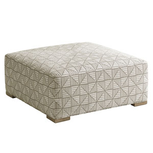 Shadow Play Beige Melina Cocktail Ottoman