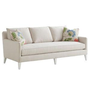 Avondale Beige and White Brookline 82-Inch Sofa
