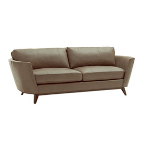 Zavala Brown Kahn Leather Sofa