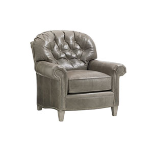 Oyster Bay Brown Bayville Leather Chair