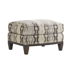 Tower Place Cream and Brown Conrad Ottoman