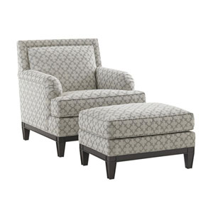 Kensington Place White and Gray Aubrey Chair