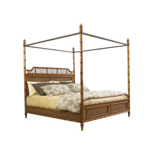 Island Estate Light Tan West Indies California King Bed