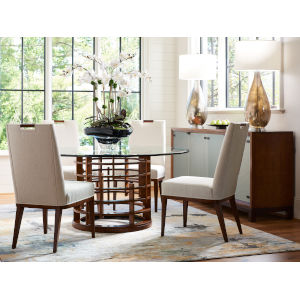 Island Fusion Brown Meridien Round Dining Table