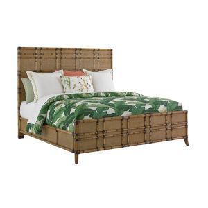 Twin Palms Brown Coco Bay Panel California King Bed