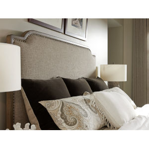 Cypress Point Gray Stone Harbour Upholstered Queen Headboard
