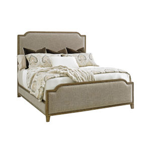 Cypress Point Gray Stone Harbour Upholstered California King Bed
