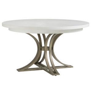 Ocean Breeze White Savannah Round Dining Table