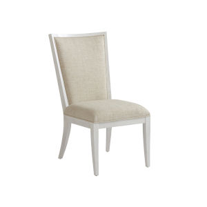 Ocean Breeze White Sea Winds Upholstered Side Chair