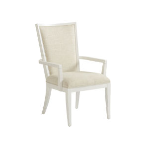 Ocean Breeze White Sea Winds Upholstered Arm Chair