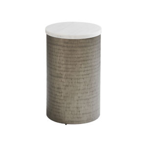 Ocean Breeze White Turnberry Round Chairside Table