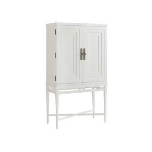Ocean Breeze White Jensen Beach Bar Cabinet