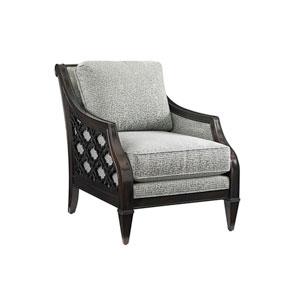 Royal Kahala Mahogany and Gray Bay Club Chair