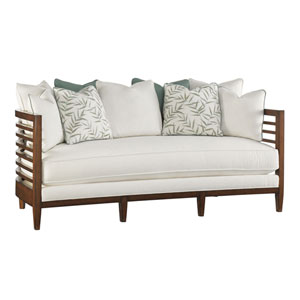 Ocean Club Brown and White St. Lucia Sofa
