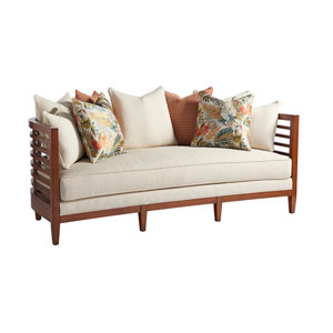 Ocean Club Brown and Ivory St. Lucia Sofa